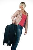 Mujer con bagaje Fotografía de archivo libre de regalías