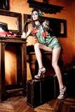 Mujer con champán, Fotos de archivo