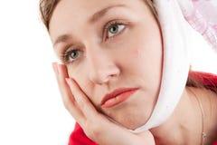 Mujer con dolor de muelas Imagen de archivo