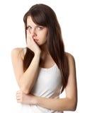 Mujer con dolor de muelas Fotografía de archivo libre de regalías