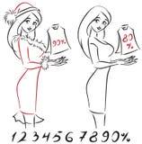 Mujer con el bolso libre illustration