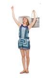 Mujer con el bolso Fotos de archivo