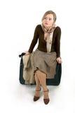 Mujer con el bolso enorme Imagen de archivo libre de regalías