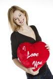 Mujer con el corazón Foto de archivo libre de regalías