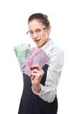 Mujer con el dinero Fotos de archivo libres de regalías