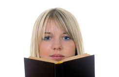 Mujer con el libro Fotos de archivo libres de regalías