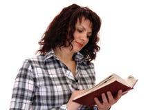 Mujer con el libro foto de archivo