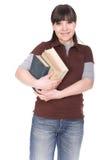 Mujer con el libro imagen de archivo