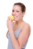 Mujer con el limón Fotos de archivo libres de regalías