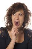 Mujer con el lollipop Imagenes de archivo