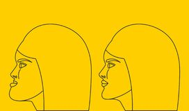 Mujer con el malocclusion libre illustration