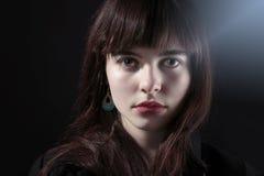 Mujer con el maquillaje blanco Imágenes de archivo libres de regalías