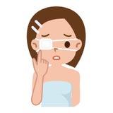 Mujer con el parche de ojo Imagen de archivo libre de regalías