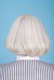 Mujer con el peinado de la sacudida Foto de archivo