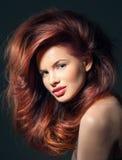 Mujer con el peinado de lujo Fotografía de archivo libre de regalías