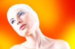 Mujer con el pelo cubierto - 5 Fotografía de archivo libre de regalías