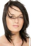 Mujer con el pelo del vuelo Imagen de archivo
