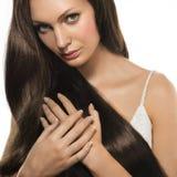 Mujer con el pelo largo fotografía de archivo