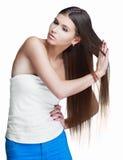 Mujer con el pelo largo Imagen de archivo
