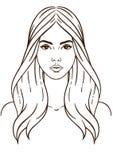 Mujer con el pelo largo Foto de archivo libre de regalías
