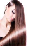 Mujer con el pelo largo sano Imágenes de archivo libres de regalías