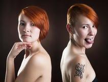 Mujer con el pelo rojo Fotografía de archivo