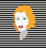 Mujer con el pelo rubio Imágenes de archivo libres de regalías
