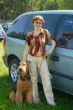 Mujer con el perro Imagen de archivo