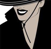 Mujer con el sombrero Imagen de archivo libre de regalías