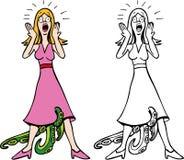 Mujer con el STD stock de ilustración