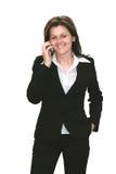 Mujer con el teléfono móvil Imagen de archivo