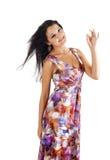Mujer con gesto aceptable Imagen de archivo libre de regalías