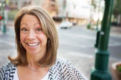 Mujer con Glad Expression Imágenes de archivo libres de regalías