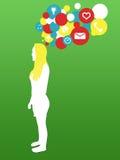 Mujer con idea stock de ilustración
