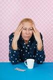 Mujer con insomnio Foto de archivo libre de regalías