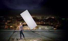 Mujer con la bandera Fotografía de archivo