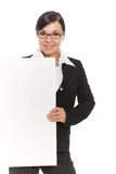 Mujer con la bandera foto de archivo libre de regalías