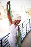 Mujer con la bufanda 6 foto de archivo libre de regalías