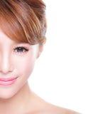 Mujer con la cara de la belleza y la piel perfecta Foto de archivo libre de regalías