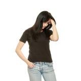 Mujer con la depresión Imágenes de archivo libres de regalías