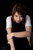 Mujer con la depresión Foto de archivo libre de regalías