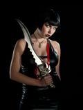 Mujer con la espada Fotos de archivo libres de regalías