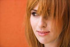 Mujer con la expresión dañosa Imagen de archivo