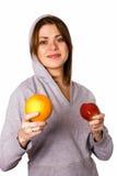 Mujer con la fruta Foto de archivo