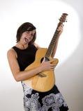 Mujer con la guitarra 6 Fotografía de archivo libre de regalías