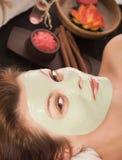 Mujer con la máscara del balneario Imagen de archivo
