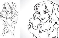 Mujer con la manzana libre illustration