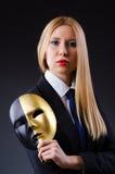 Mujer con la máscara Imagen de archivo libre de regalías