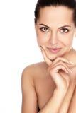 Mujer con la piel de la salud de la cara Fotografía de archivo libre de regalías