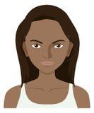 Mujer con la piel oscura ilustración del vector